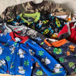 Boy Fleece Footies Pajamas 24 Months 2T